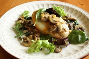 Mushroom garlic chicken