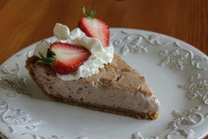 Philadelephia strawberries cheesecake