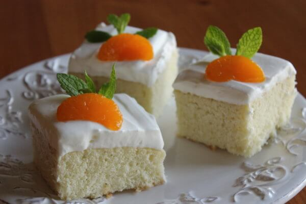 YOGURT DESSERT WITH MANDARIN ORANGES