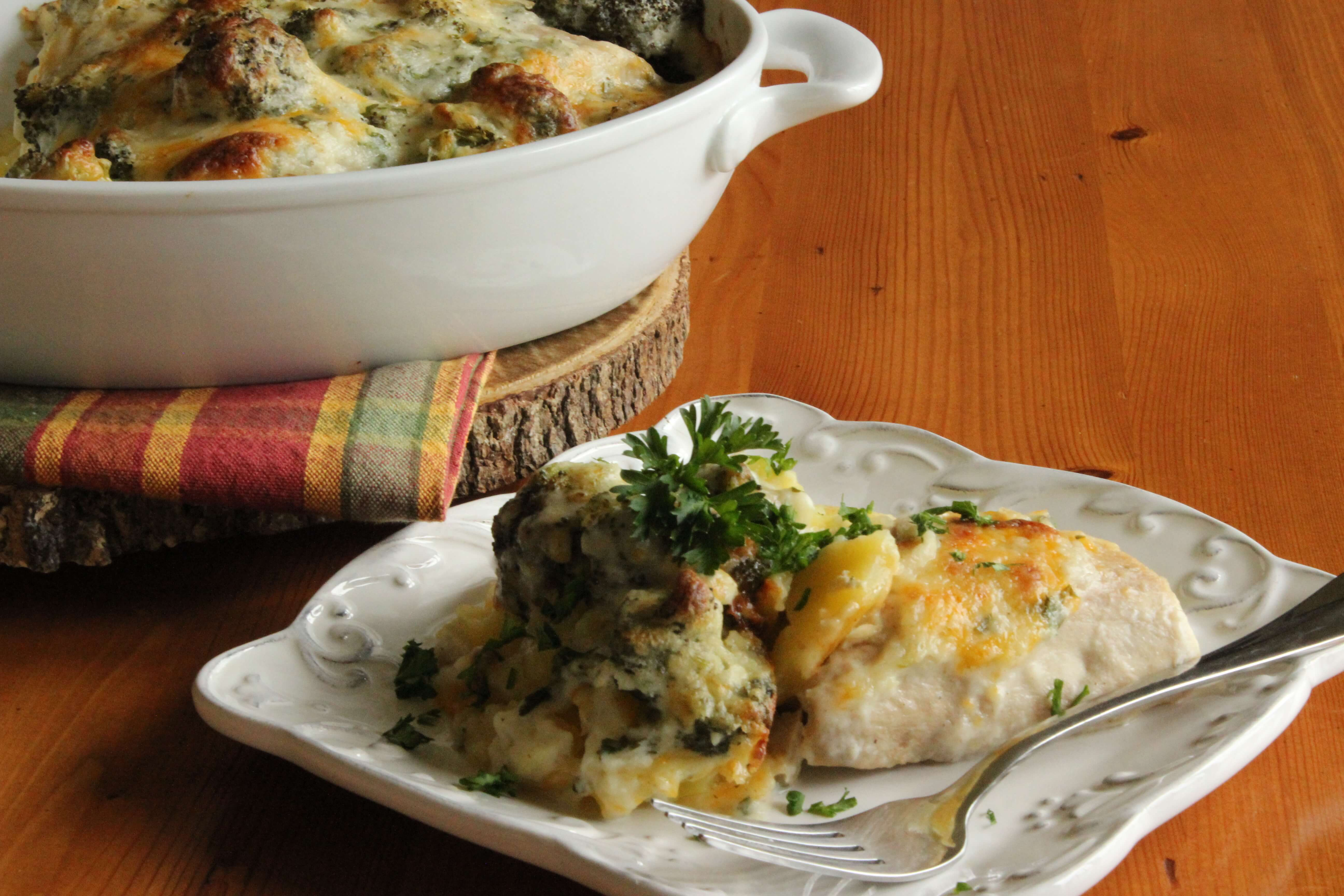 Fish Baked With Broccoli And Creamy Sauce Reny Cookbook