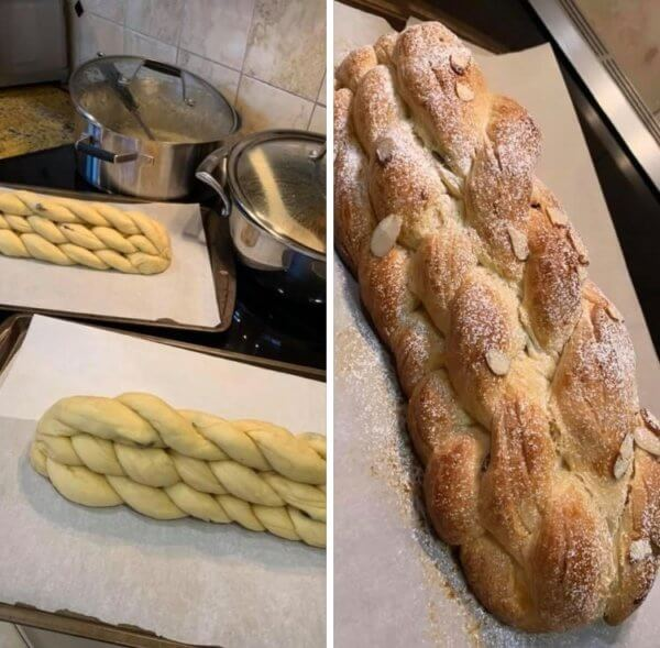 Vanocka (Czech Christmas bread - challah)