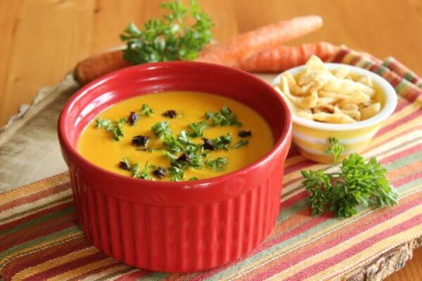 CARROT SOUP WITH COCONUT MILK