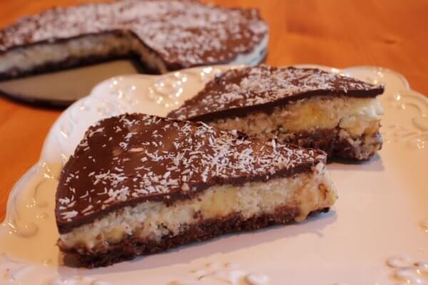 UNBAKED COCONUT BANANA CAKE